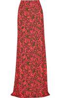Matthew Williamson Printed Stretch-jersey Maxi Skirt - Lyst