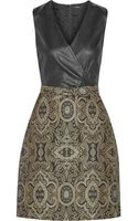 Raoul Vera Wrapeffect Leather and Brocade Dress - Lyst