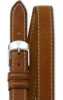 Michele 16mm Doublewrap Leather Strap - Lyst
