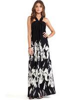 Halston Heritage Halter Strap Printed Aline Gown - Lyst