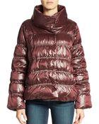 Eileen Fisher Iridescent Puffer Coat - Lyst