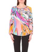 Emilio Pucci Printed Silk Top - For Women - Lyst
