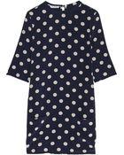 Equipment Aubrey Polka-Dot Washed-Silk Dress - Lyst