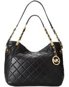 MICHAEL Michael Kors Susannah Medium Shoulder Tote - Lyst