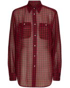 Polo Ralph Lauren Alyssa Silk Plaid Shirt - Lyst