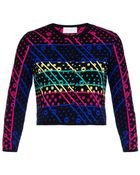 Peter Pilotto Galaxy Broderie-Anglaise Knit Cardigan - Lyst