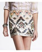 Express Sequin Embellished Mini Skirt - Lyst