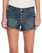 Free People Cutoff Denim Shorts - Lyst