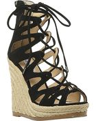 Steve Madden Ghille Lace Up Wedge - Lyst