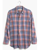 Madewell Rivet & Thread Flannel Shirt In Harvey Plaid - Lyst