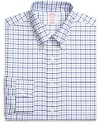 Brooks Brothers Non-Iron Regent Fit Brookscool® Framed Alternating Windowpane Dress Shirt - Lyst