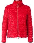 Moncler Floral Macramé Quilted Jacket - Lyst