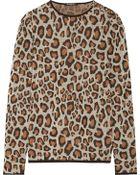 Balmain Leopard-printed Wool Sweater - Lyst