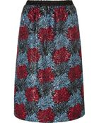 No 21 Sequined Crepe Midi Skirt - Lyst