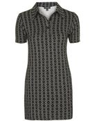 Topshop Collared Geo Print Tunic Dress - Lyst