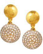 Gurhan Lentil Ice 24K Gold & Diamond Drop Earrings - Lyst