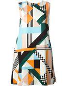 MSGM Graphic Print Dress - Lyst