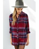 BDG Obie Flannel Button-Down Shirt - Lyst