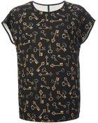 Dolce & Gabbana Key Print Top - Lyst