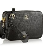 Tory Burch Robinson Textured-Leather Shoulder Bag - Lyst