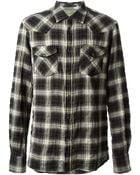 Dondup Plaid Print Shirt - Lyst