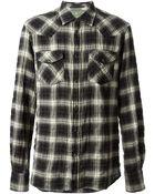 Dondup Plaid Print Shirt - Lyst