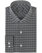 Kenneth Cole Reaction Black And White Plaid Dress Shirt - Lyst