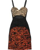 Proenza Schouler Cutout Flocked Faille Mini Dress - Lyst