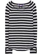 Dear Cashmere Striped Cashmere Sweater - Lyst