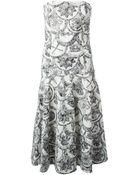 Frankie Morello Mixed Print Brocade Dress - Lyst