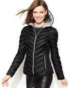 Laundry By Shelli Segal Hooded Quilted Packable Puffer Coat - Lyst