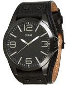 Guess U0181G2 Leather Cuff Watch - Lyst