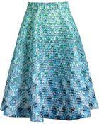 Mary Katrantzou Flared Printed Skirt - Lyst