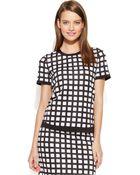 Calvin Klein Short-Sleeve Printed Top - Lyst
