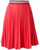 Theory Pleated Skirt - Lyst