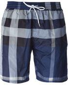Burberry Brit Check-Print Swim Shorts - Lyst
