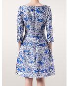 Oscar de la Renta Doily Printed Dress - Lyst