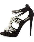 Giuseppe Zanotti Crystal-Embellished Heel Sandal - Lyst