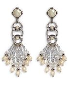 Miriam Haskell Pearl Crystal Drop Earrings - Lyst