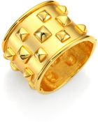 Kenneth Jay Lane Pyramid Studded Wide Bracelet - Lyst