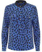 Juicy Couture Cheetah Print Silk Blouse - Lyst