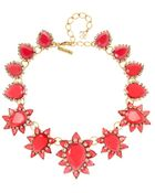 Oscar de la Renta Goldplated Crystal and Resin Necklace - Lyst