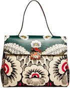 Valentino Womens Single Handle Floral Leather Bag - Lyst