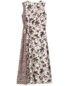 Tory Burch Silk Crewneck Dress - Lyst