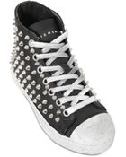 Gienchi Studded Leather High Top Sneakers - Lyst