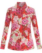 Isolda Printed Silk Shirt - Lyst