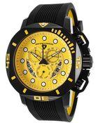 Swiss Legend Scubador Sport Chronograph Black Silicone Yellow Dial - Lyst