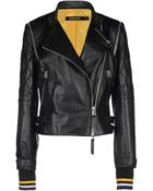 Dkny X Cara Delevingne Leather Outerwear - Lyst