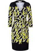 Diane von Furstenberg City Placement New Julian Silk Wrap Dress - Lyst