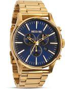 Nixon The Sentry Chrono Watch, 42Mm - Lyst